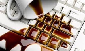 Drink spilled on keyboard